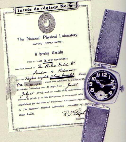 Rolex Chronometer mit kleiner Sekunde von 1914