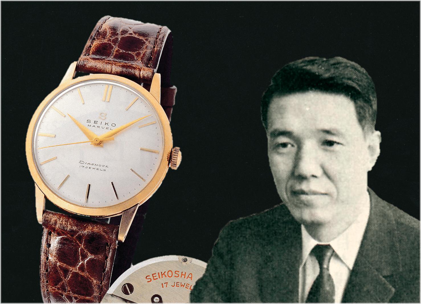 Tsuneya Nakamura mit der Seiko Marvel Uhr von 1956