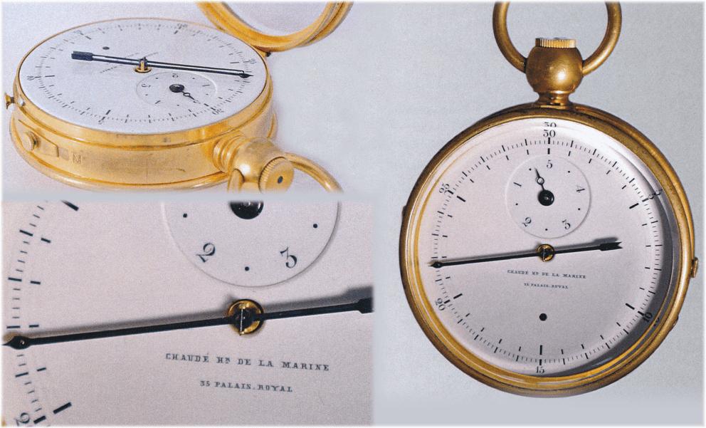 Tintenchronograph mit Zeigern von Chaudé, Genf, ca. 1860