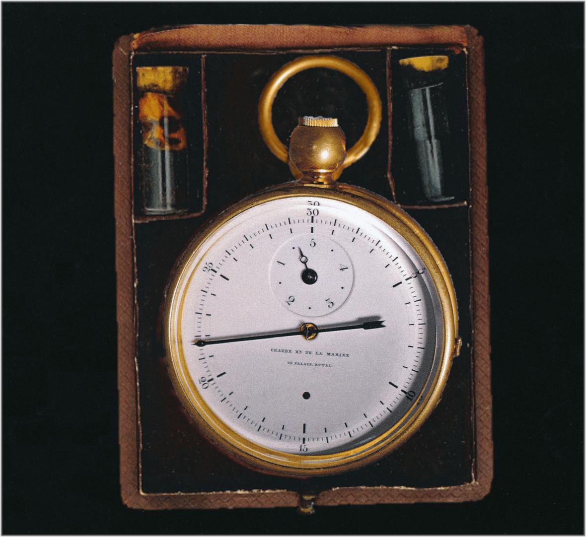Tinten Chronograph mit Zeigern Chaude Genf im Etui C Uhrenkosmos