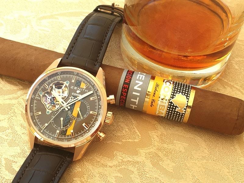 Manche Dinge gehören zusammen: Zenith El Primero Chronomaster 1969 Cohiba Edition mit Cohiba und kubanischem Rum