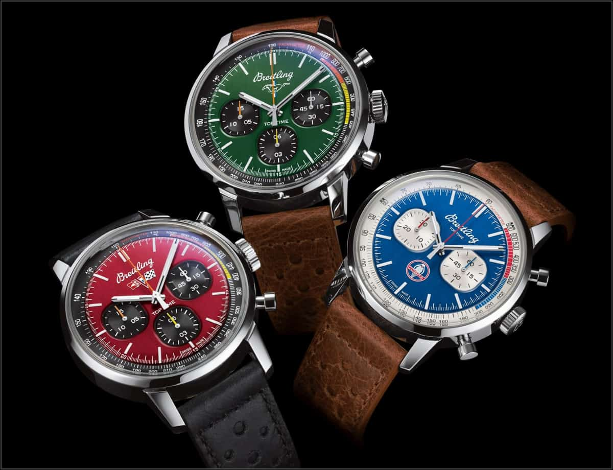Die drei Chronographen der Breitling Top Time Classic Cars Collection