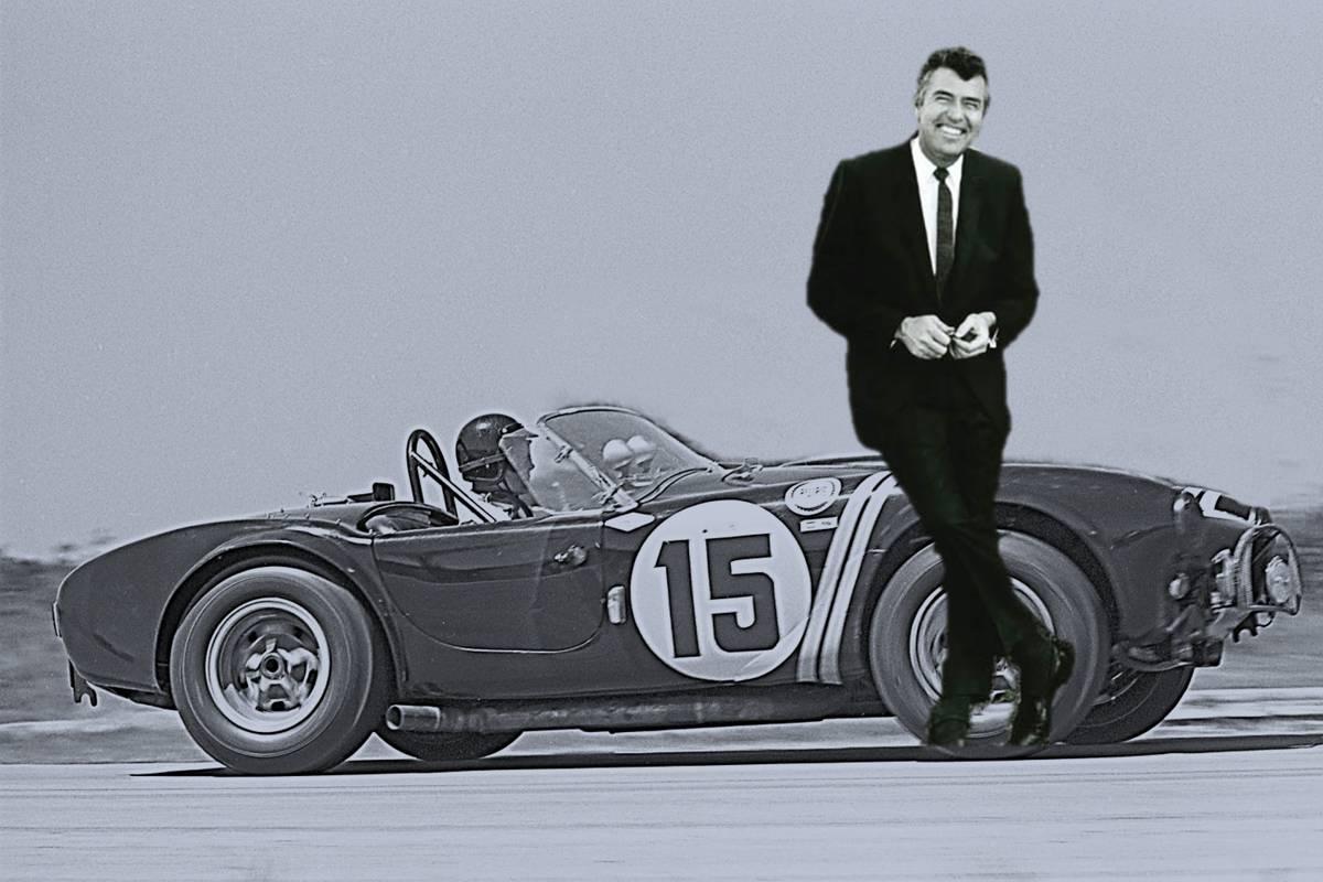 Carroll Shelby  und die von ihm entworfene Shelby Cobra
