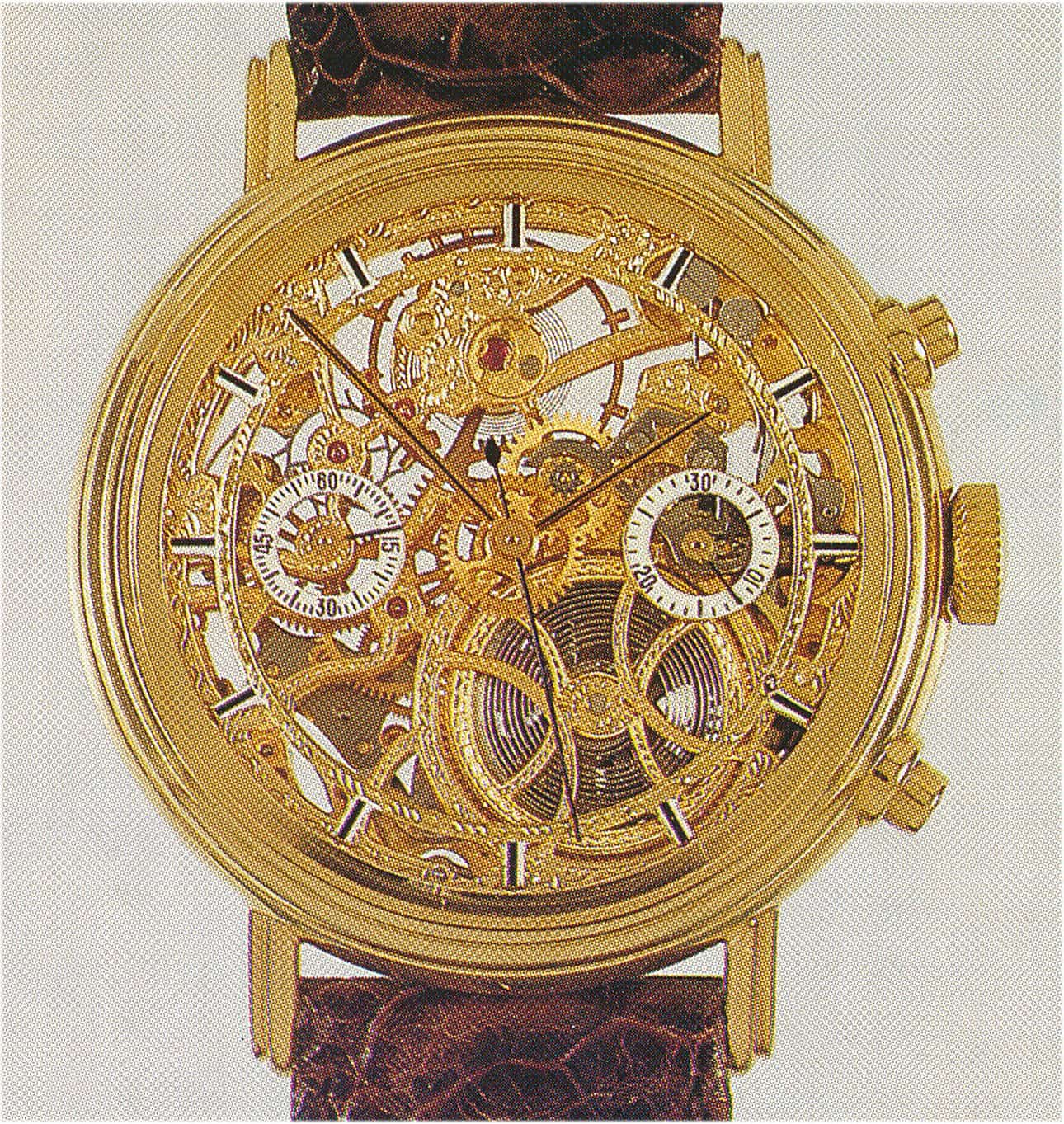 Chronoswiss Armband-Chronograph, Referenz CH 23016 von Alfred Rochat im Jahr 1985 hergestellt