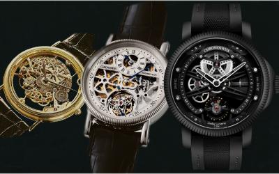 Skelettierte Uhren von ChronoswissChronoswiss Skeltec und die Chronoswiss Skelettuhren von 1985 bis 2021