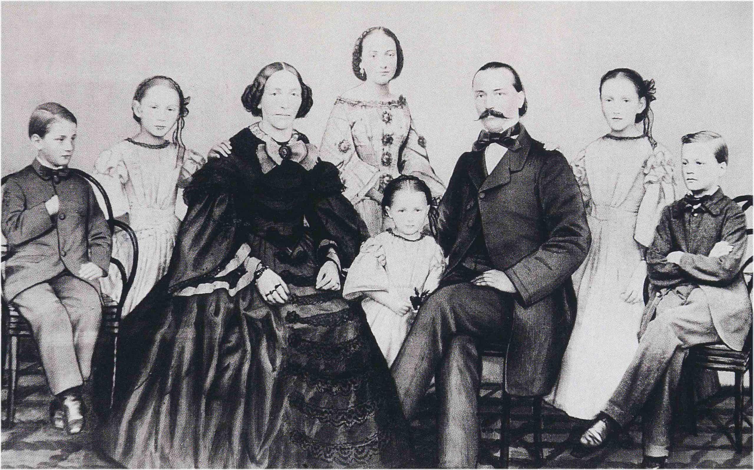 Junghans Gründer Erhard Junghans im Familienverbund
