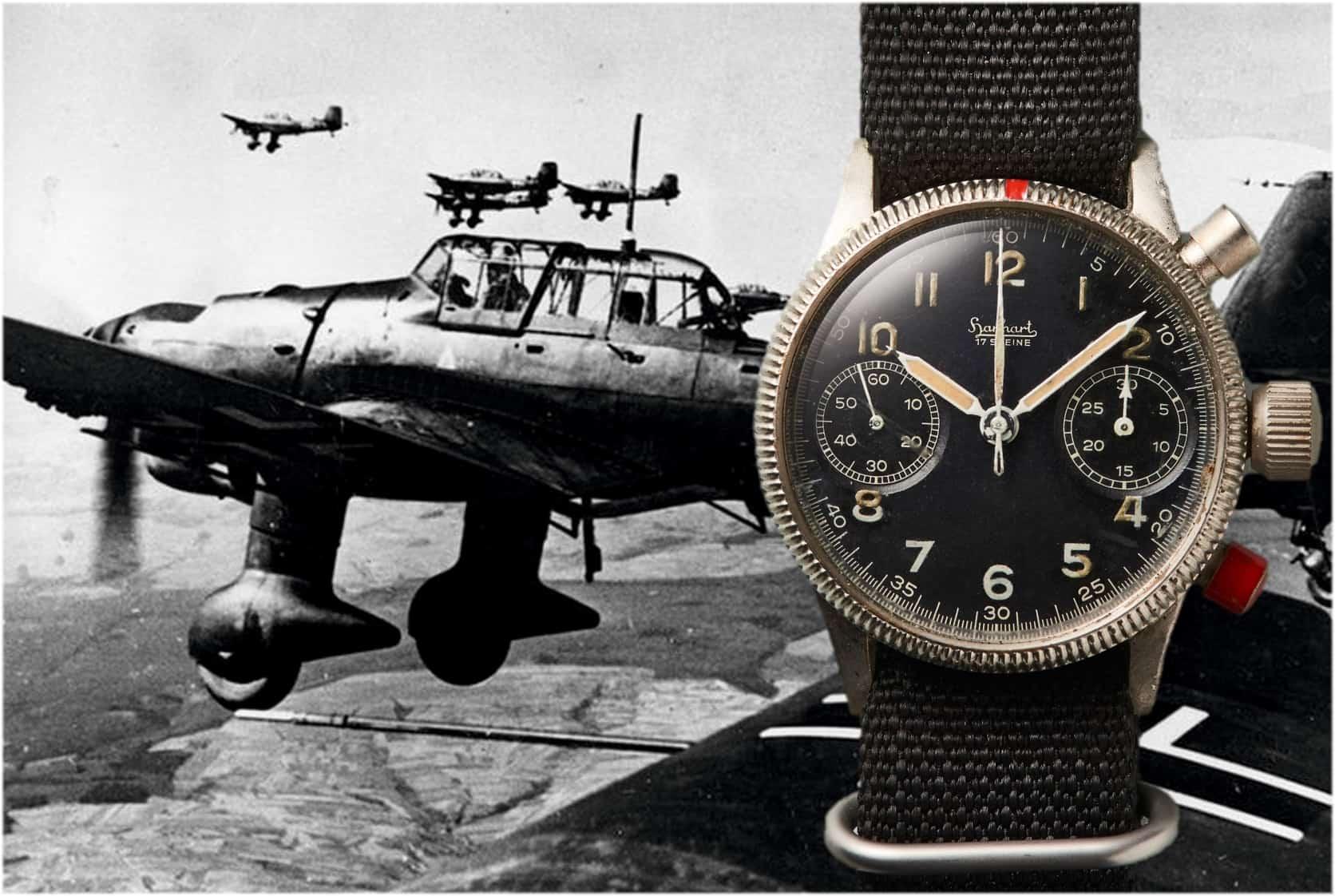 Hanhart Flieger Chronograph aus dem Jahr 1939 im militärischen Einsatz