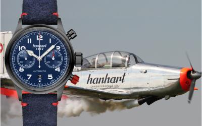 Hanhart Chronographen EditionHanhart #FliegerFriday Edition: 100 blaue Chronographen