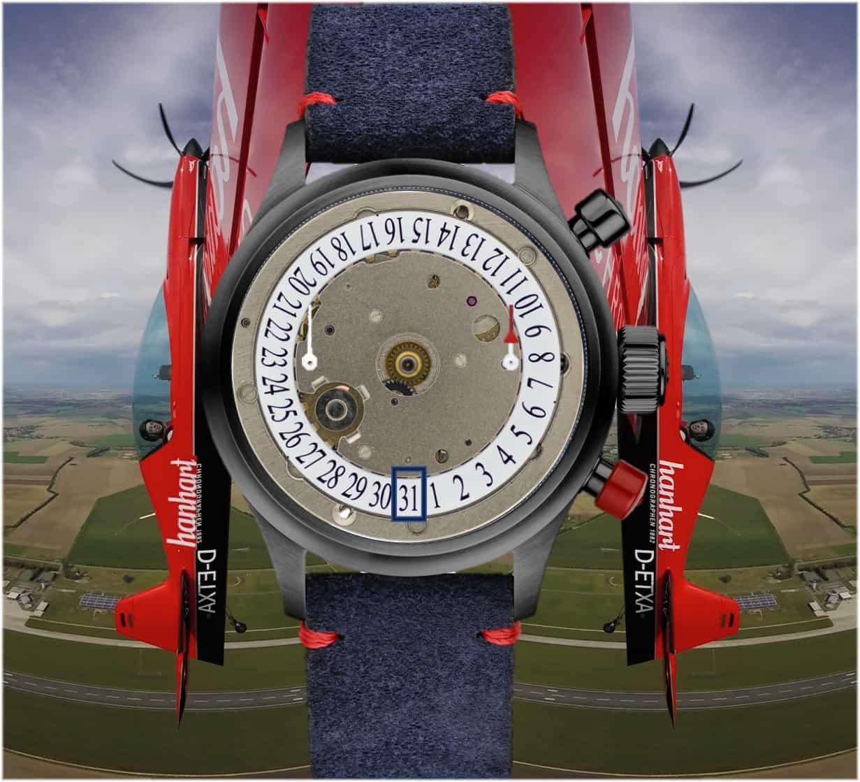Hanhart #FliegerFriday Chronograph Unterzifferblatt-Ansicht (C) Uhrenkosmos