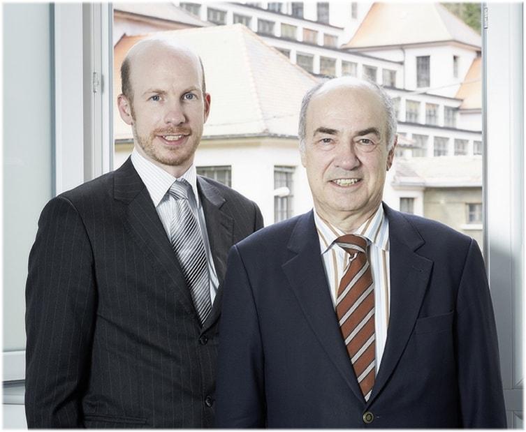 Hans Jochem und Hannes Steim links