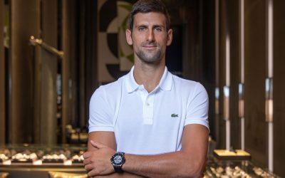"""Novak Djokovic bei HublotHublot Markenbotschafter Novak Djokovic: """"… noch viel zu gewinnen"""""""