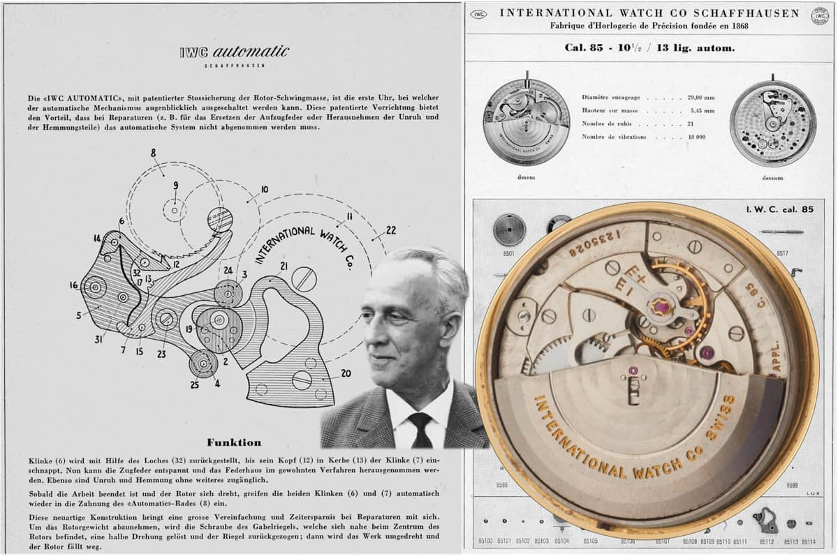 IWC Automatikkaliber 85 & Albert Pellaton (C) Uhrenkosmos