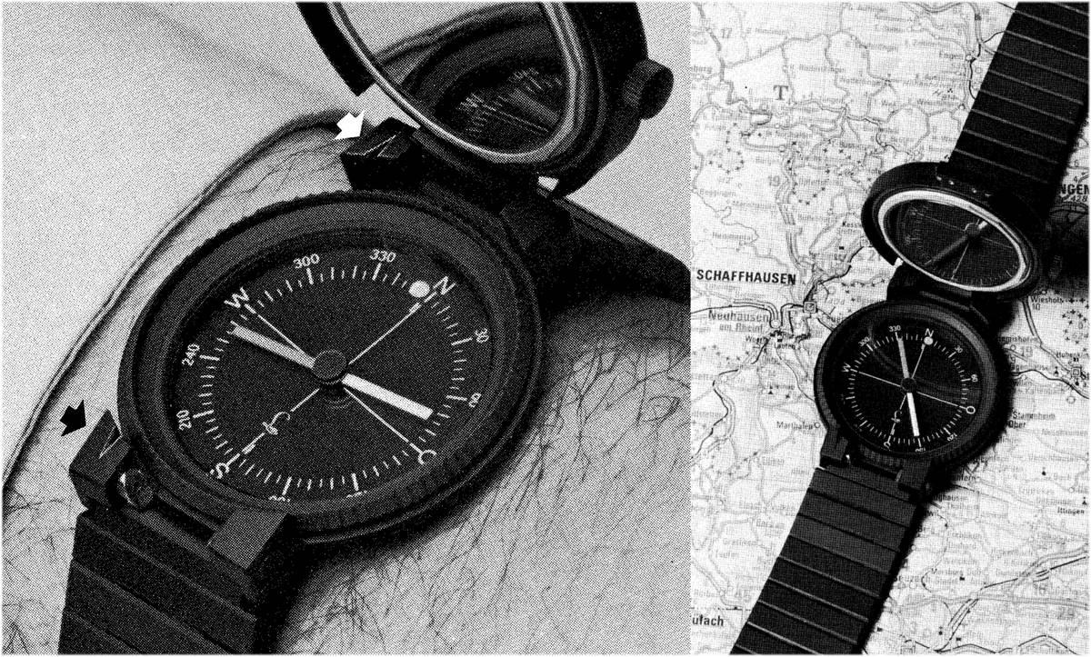 schwarze Kompassuhr Referenz 3510 von IWC Porsche Design