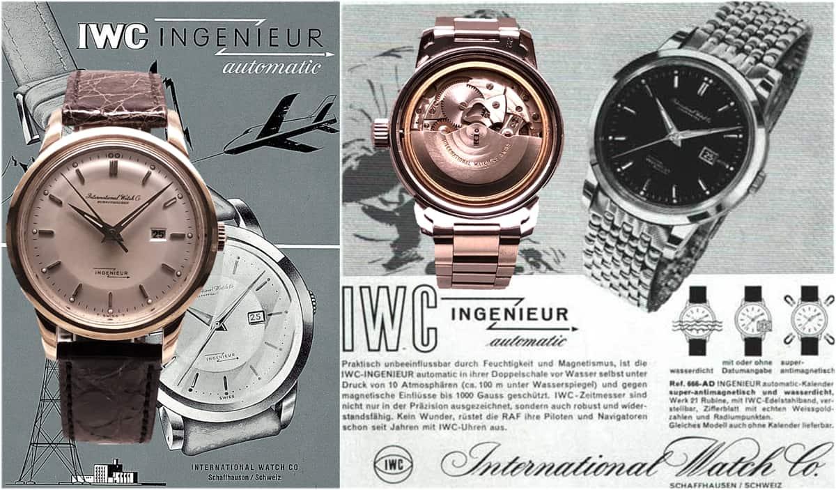 IWC Uhren Modell Ingenieur Ref 666 AD von 1956 mit dem Kaliber 852 (C)-Uhrenkosmos-1