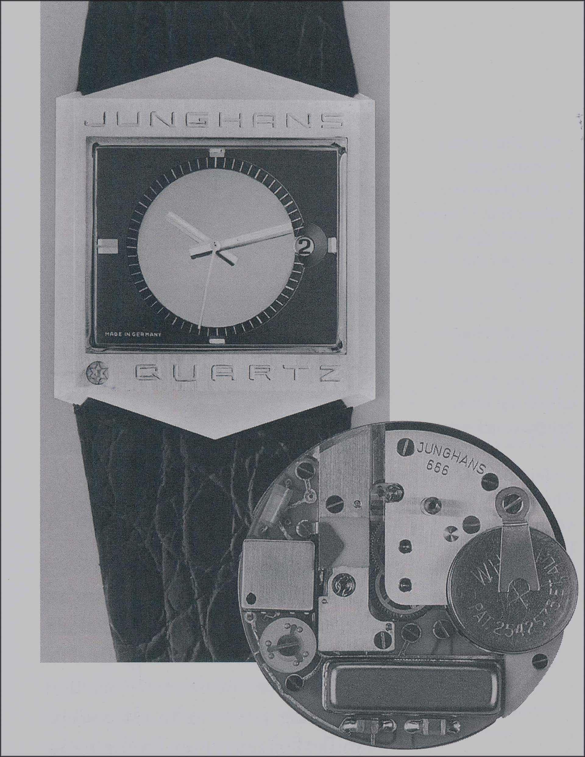 Junghans Astro-Quartz mit dem digitalen Kaliber 666 aus dem Jahr 1970