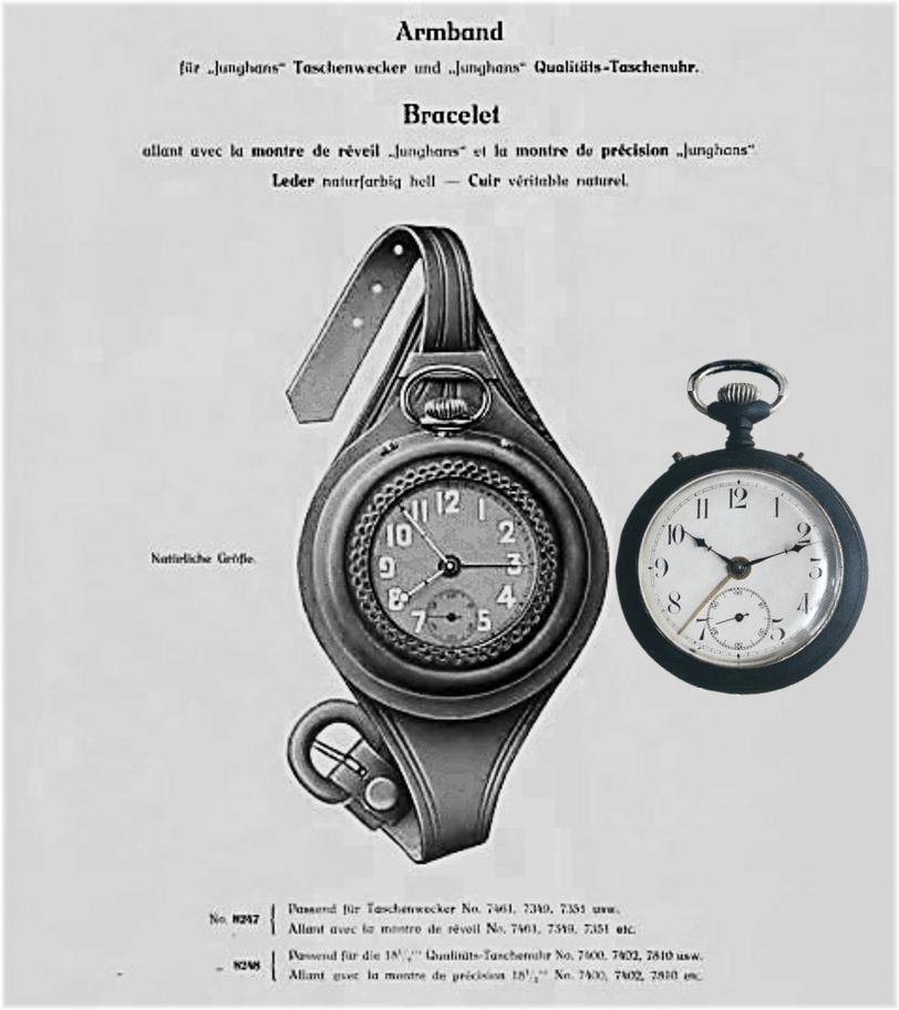 Lederhalterung für das Handgelenk zum Einsetzen einer Taschenuhr