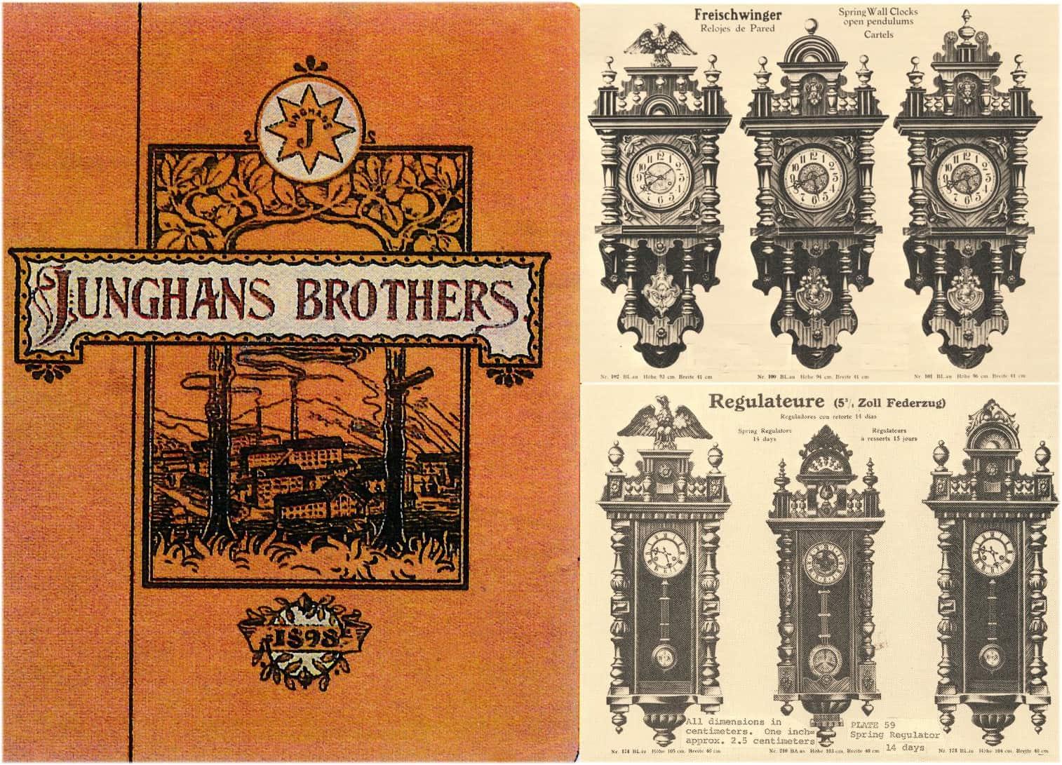 Pendeluhren von Junghans aus dem Katalog von 1898