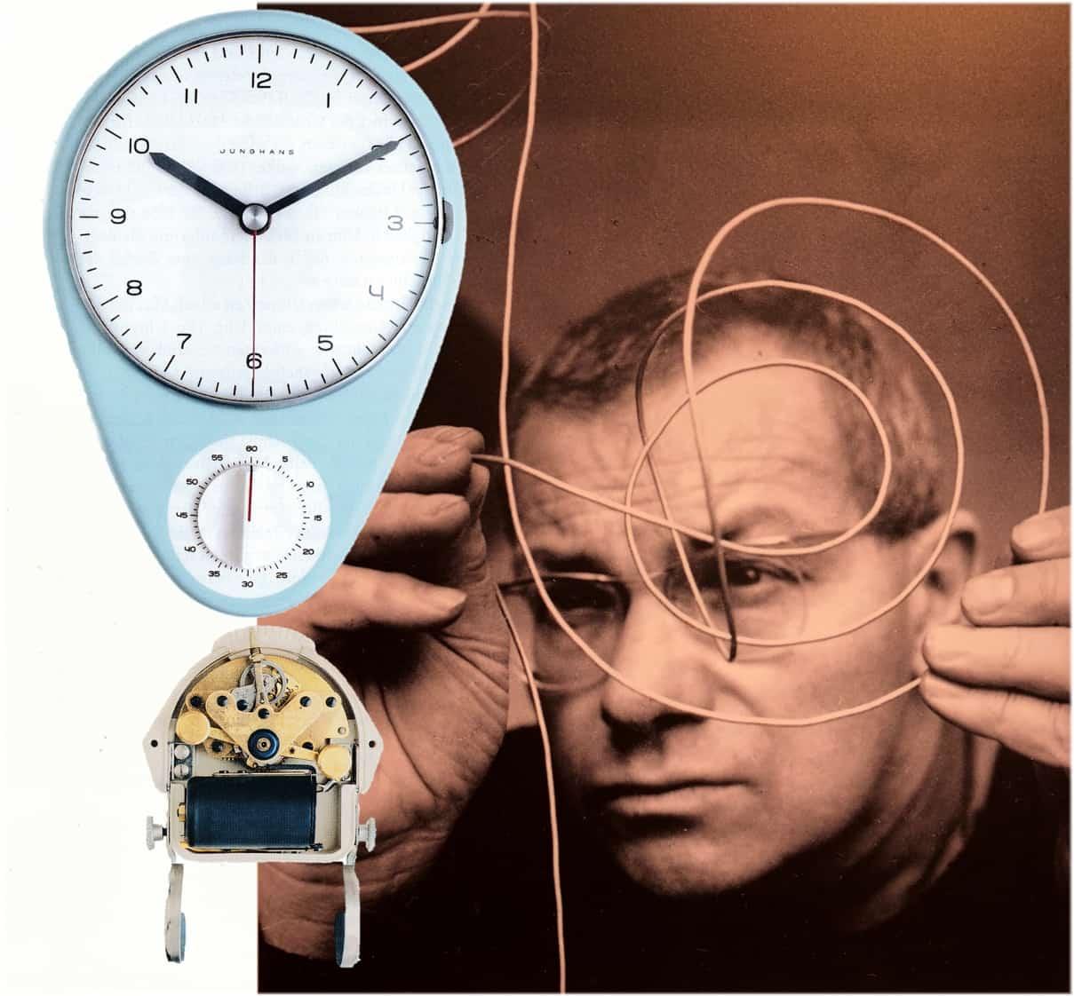 Junghans Max Bill Küchenuhr mit Kurzzeitmesser von 1956
