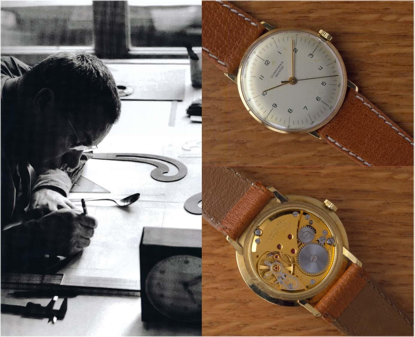 Junghans Meister mit Handaufzug und einem Zifferblatt von Max Bill aus dem Jahr 1963
