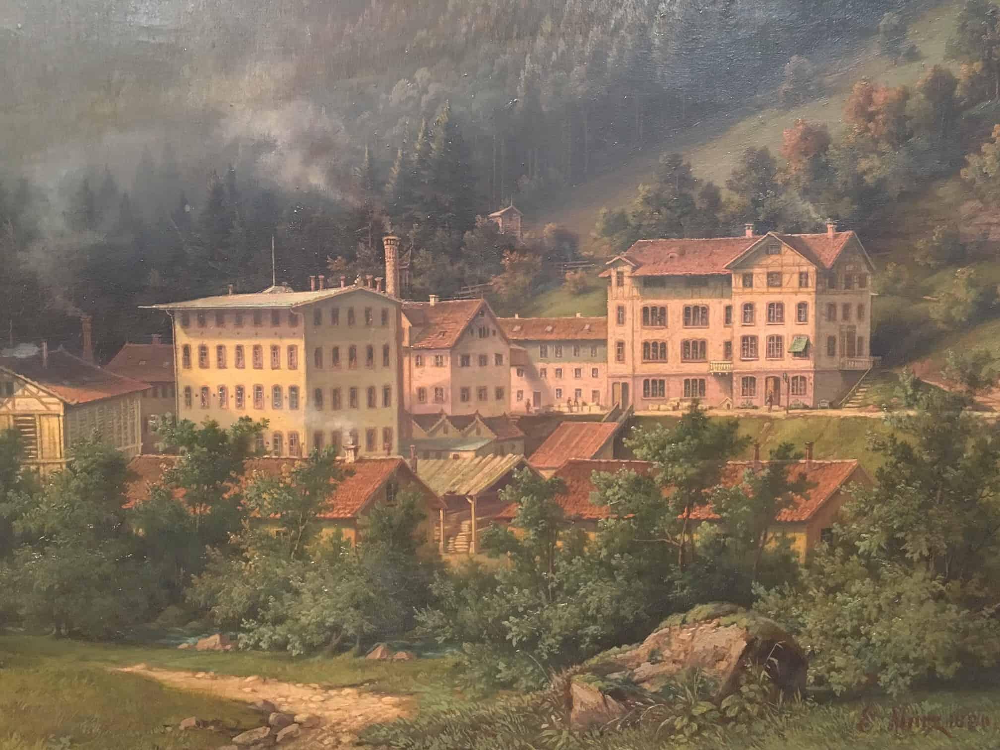 Die Uhrenfabrik Junghans in Schramberg um das Jahr 1880