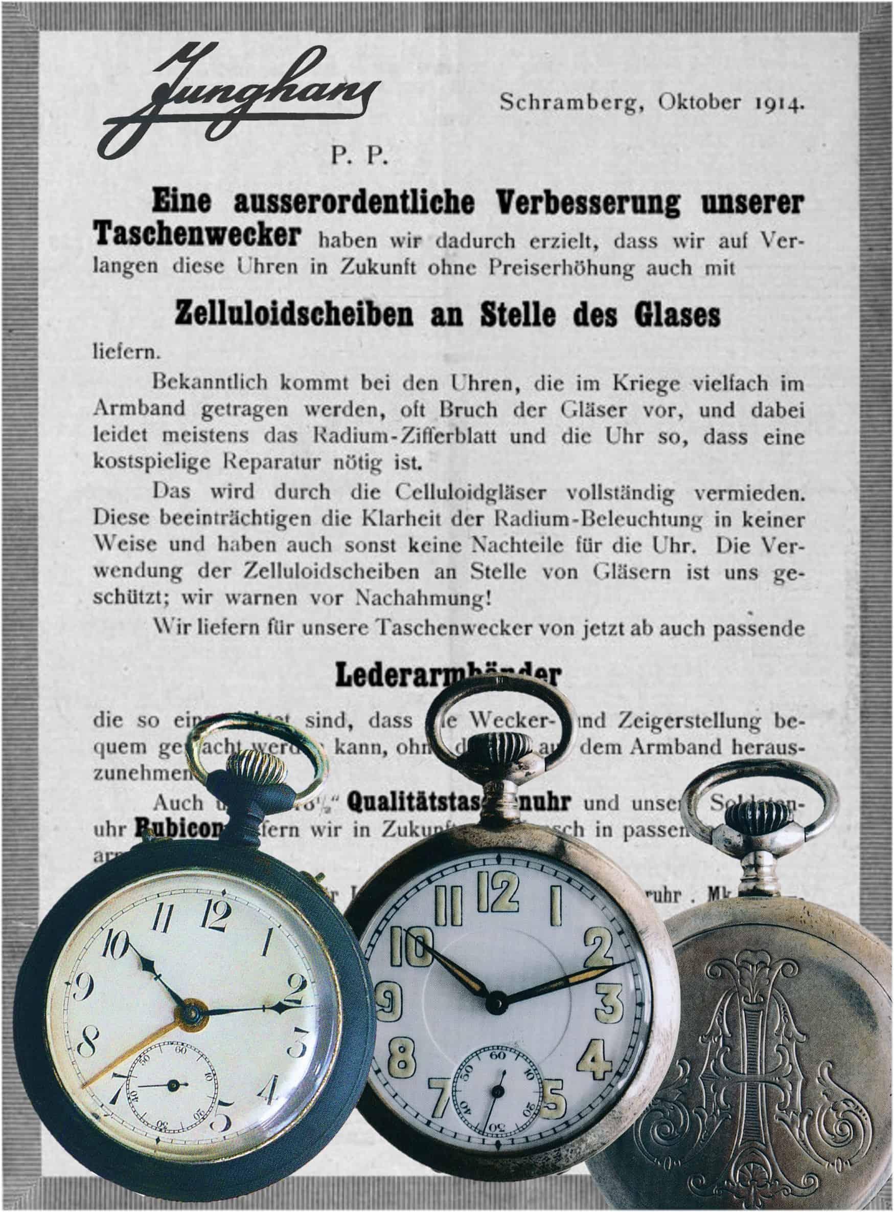 Junghans Taschenuhren um 1914