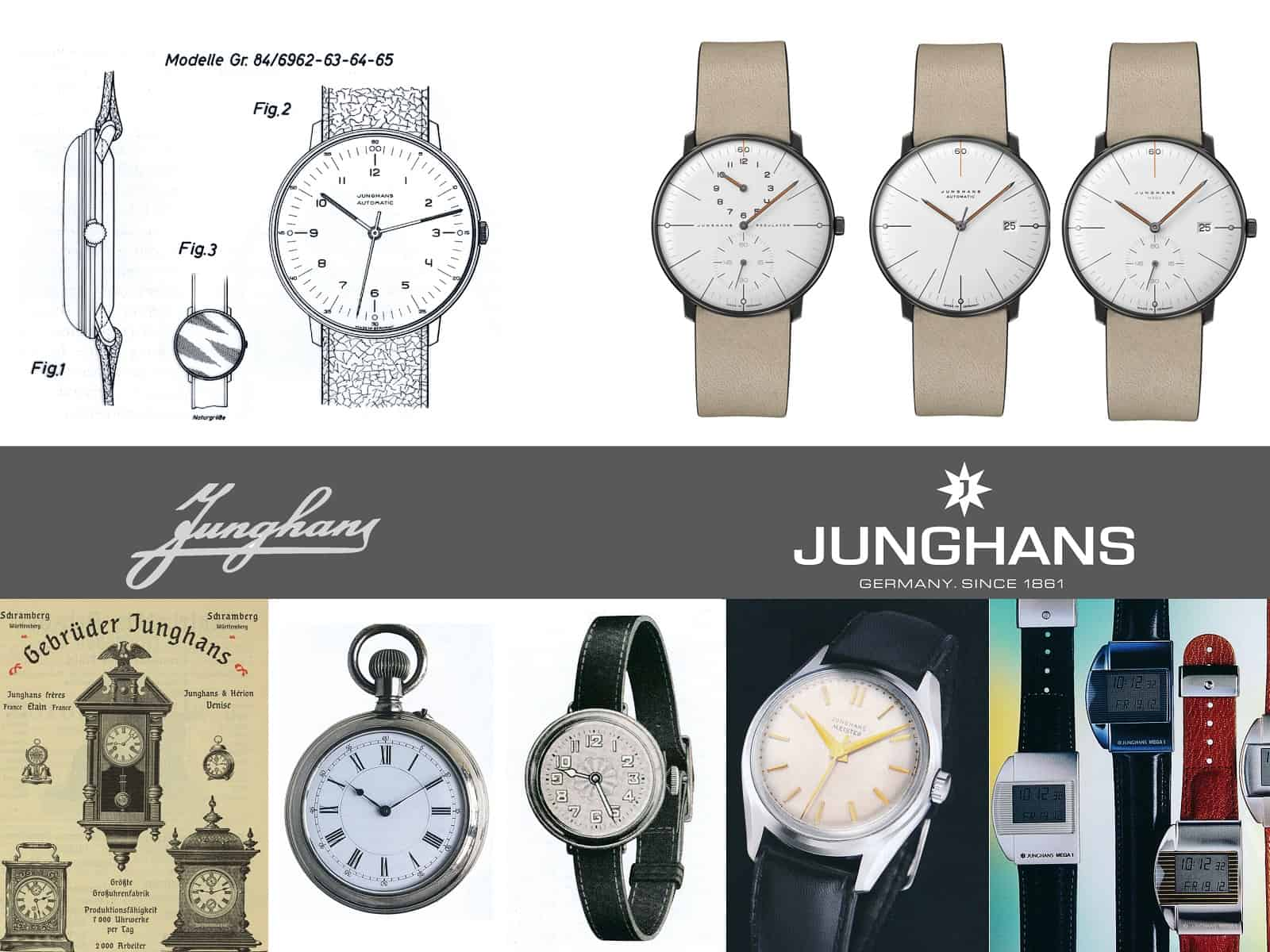 Junghans Uhren Geschichte 1861 bis max bill Edition Set 60