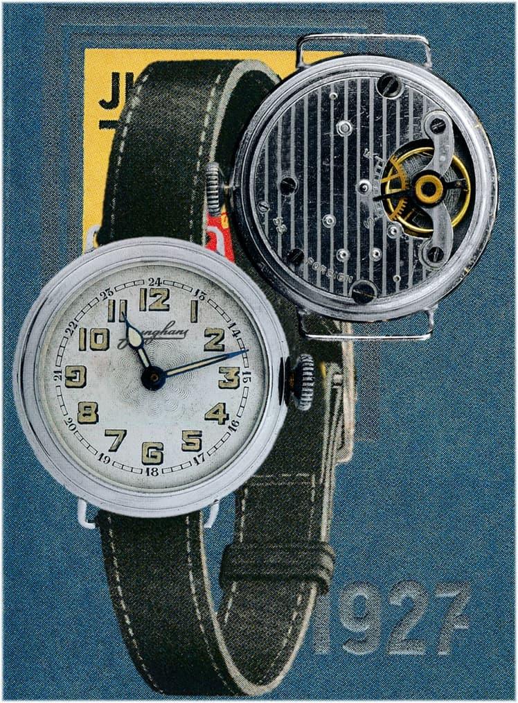 Erste Junghans Armbanduhr mit dem Kaliber J53 aus dem Jahr 1927