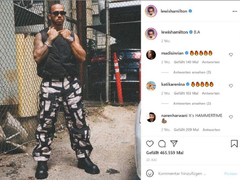 Lewis Hamilton mit IWC auf Instagram