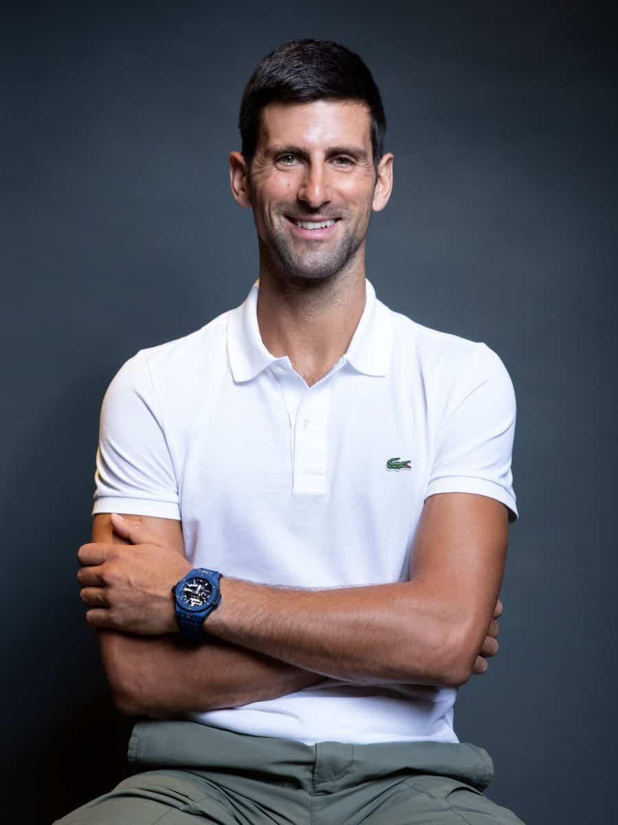 Novak Djokovic mit Hublot Uhr