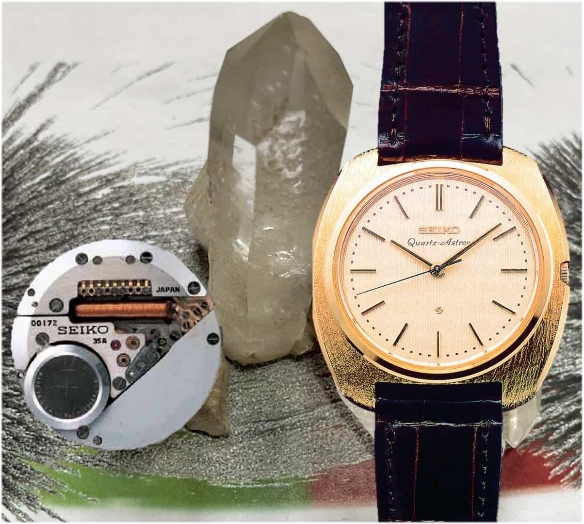 Seiko Astron Quartz Uhr aus dem Jahr 1969 mit dem kompakten Quarzuhrenkaliber
