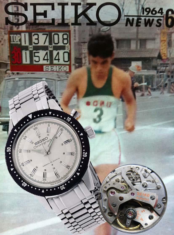 Seiko Chronograph mit Handaufzug von 1964