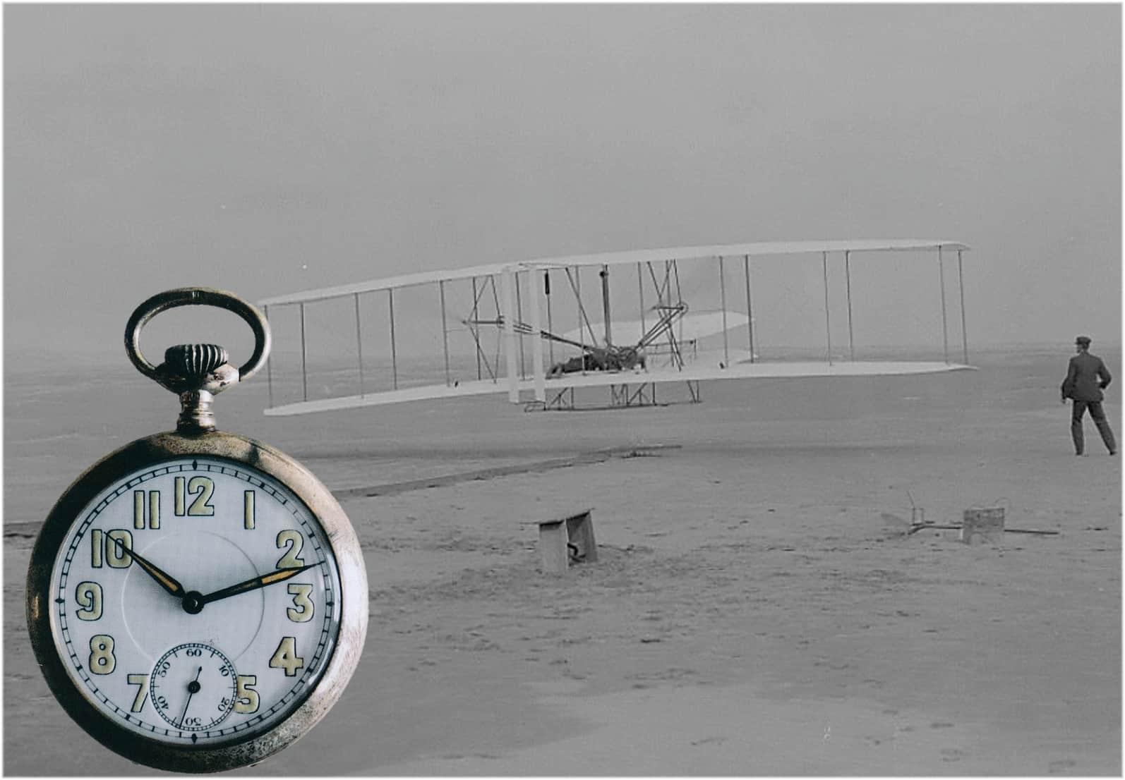Wilbur Wright Erstflug am 17. Dezember 1903