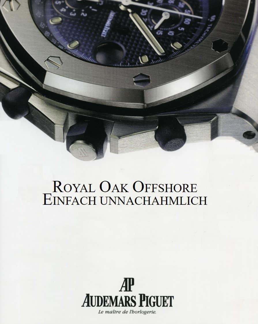 Anzeige für das Modell Audemars Piguet Royal Oak Offshore aus dem Jahr 1994