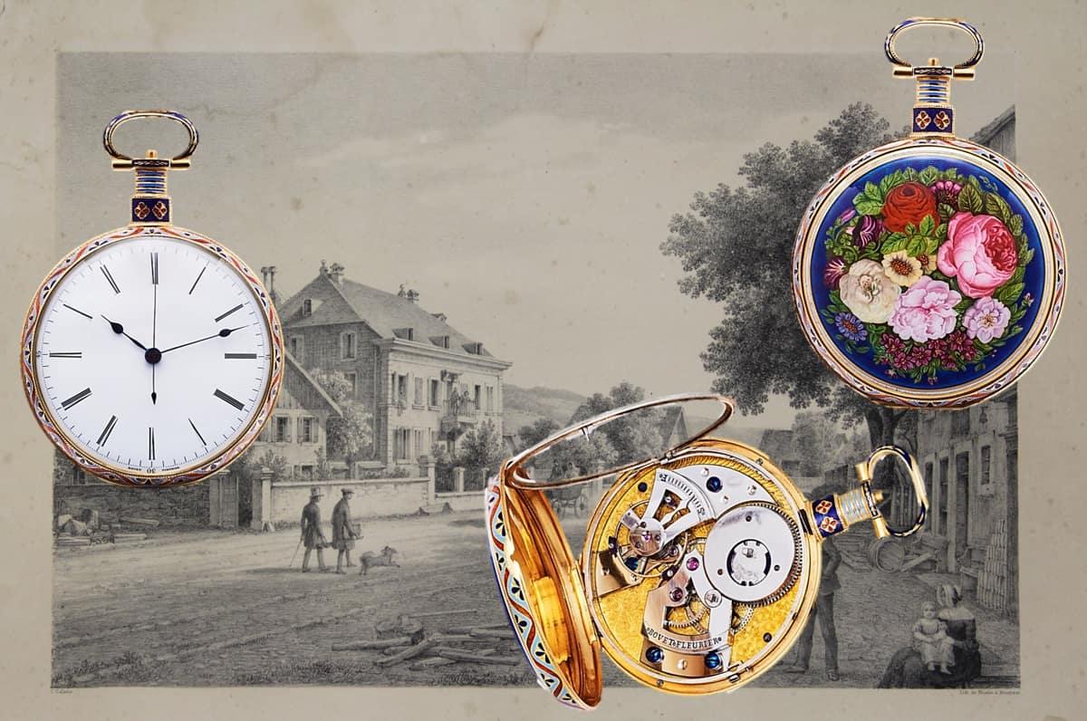 Bovet Email-Taschenuhren wurden für den chinesischen Markt produiziert - Emailuhr aus Fleurier um 1840