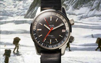 Vintage Enicar ExpeditionsuhrMit der Enicar Sherpa Jet ging es auf Expedition
