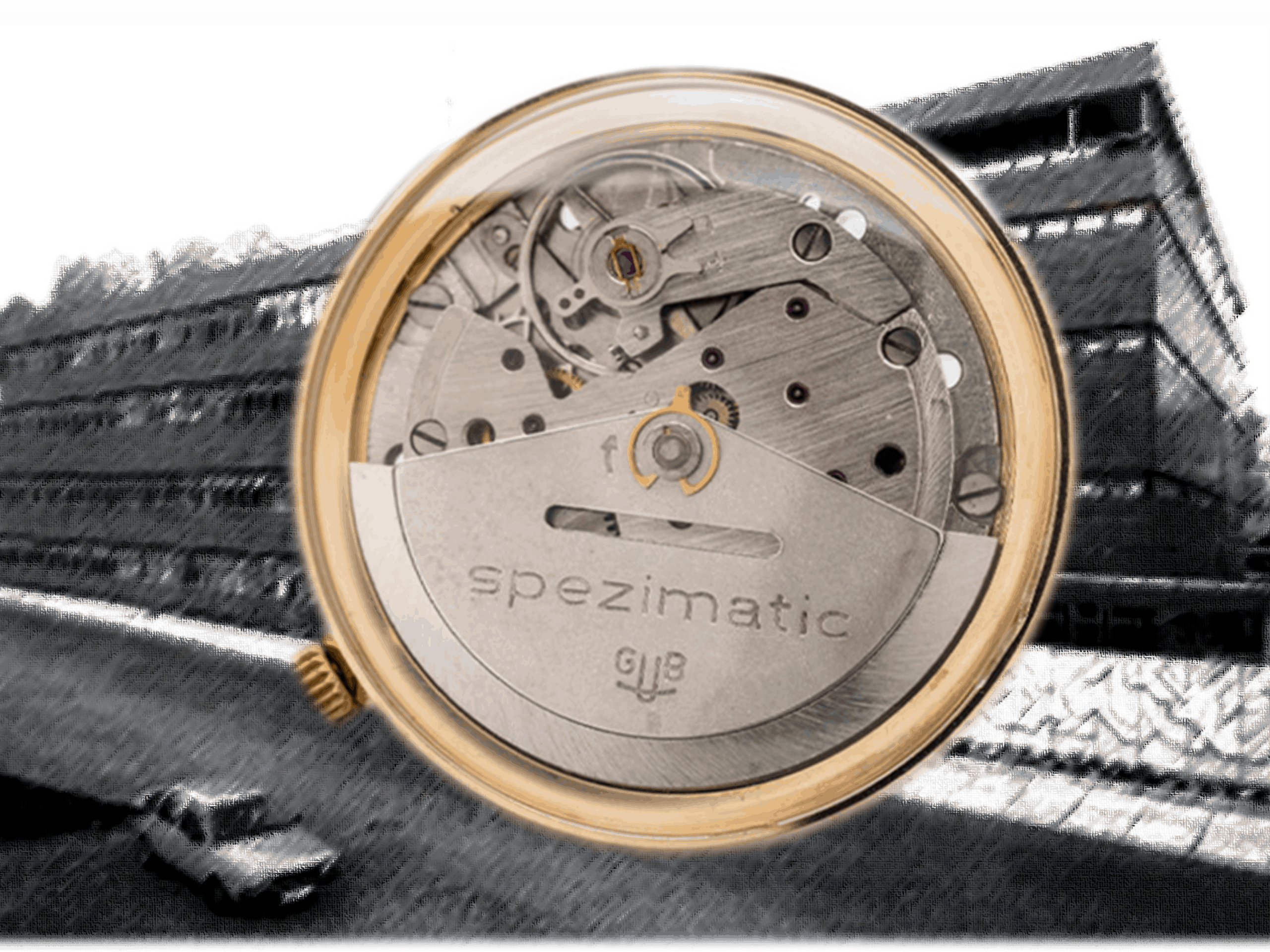 GUB Spezimatic Automatik Kaliber vor Glashütter Uhrenbetrieb