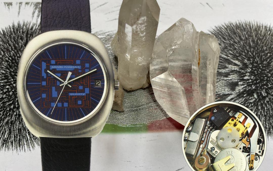 Moderne Quarz-ArmbanduhrenQuarz Standardfrequenz: 1971 definierte Girard-Perregaux die Hertz-Vorgabe von Quarzuhren