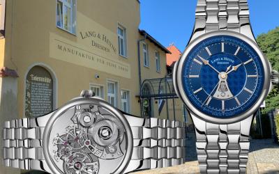 Sportlich-elegante Edelstahl-Luxusuhr aus DresdenLang & Heyne Hektor: Luxus in Stahl