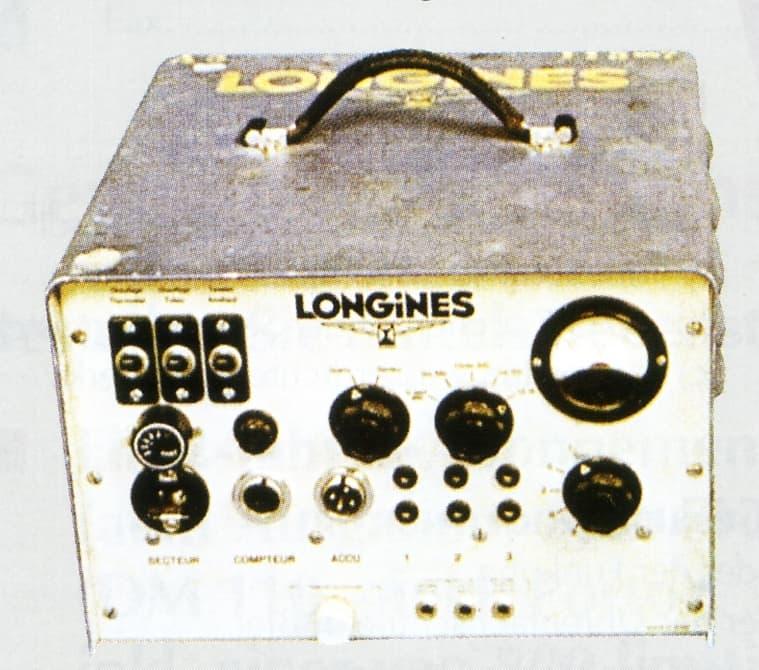 Erste tragbare Quarzuhr des Quarzuhrenpioniers Longines aus dem Jahr 1953