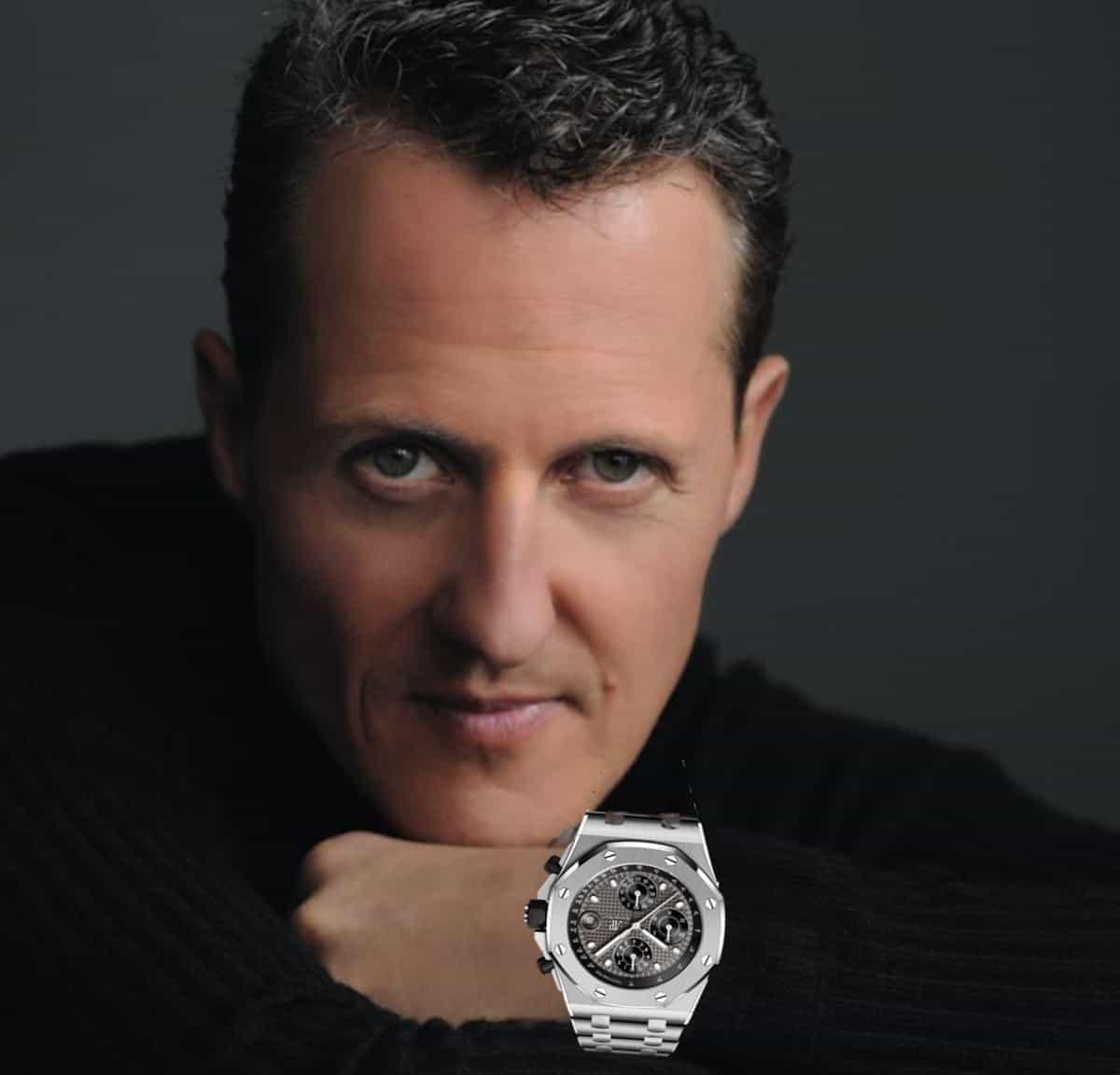 Photomontage von Michael Schumacher und AP Royal Oak Offshore