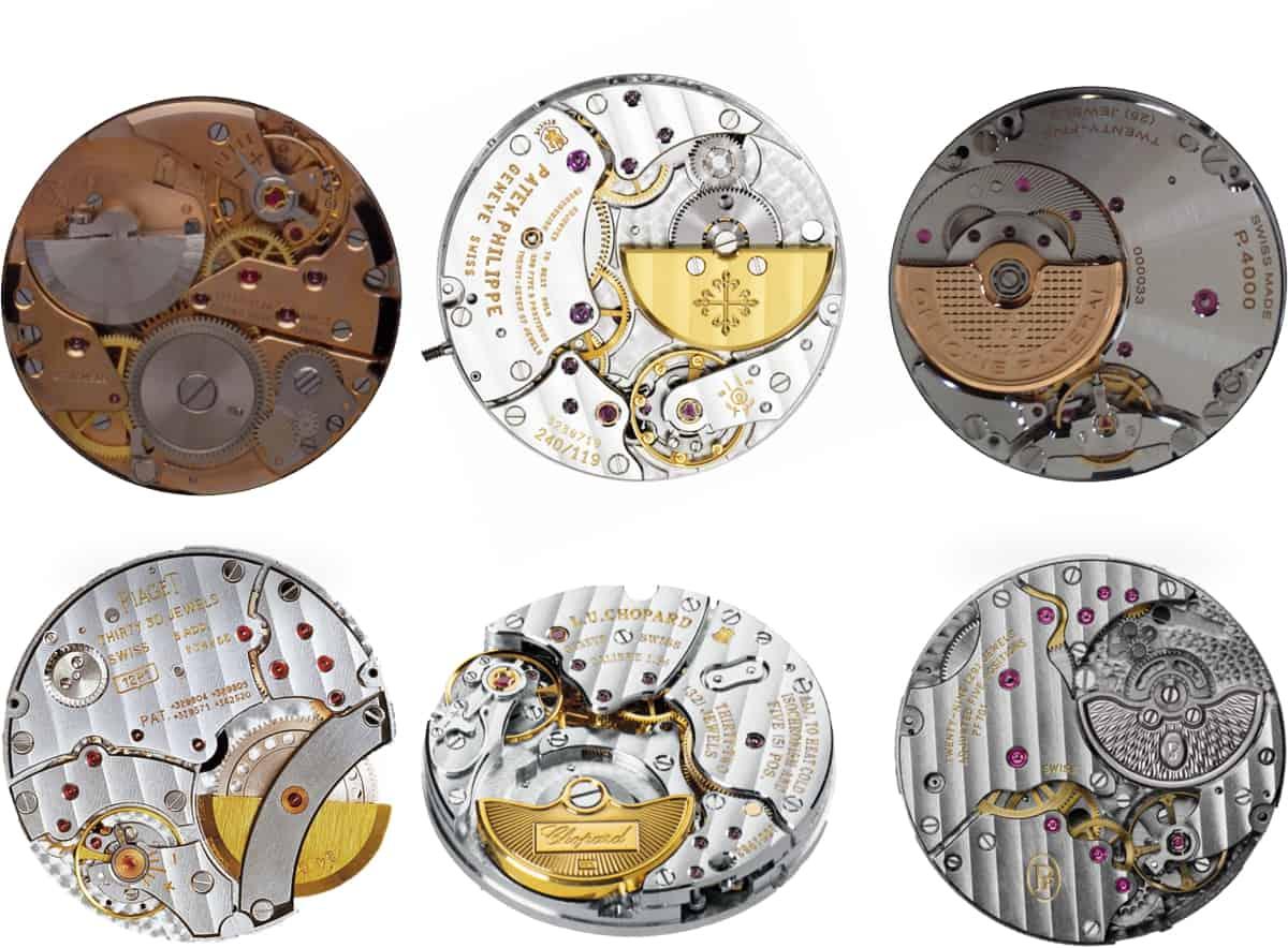 Kaliber mit Mikrorotoren von Büren, Piaget, Patek Philippe, Chopard, Panerai und Parmigiani