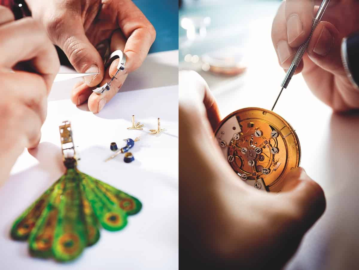 Arbeiten, die im Atelier Parmigiani ausgeführt werden