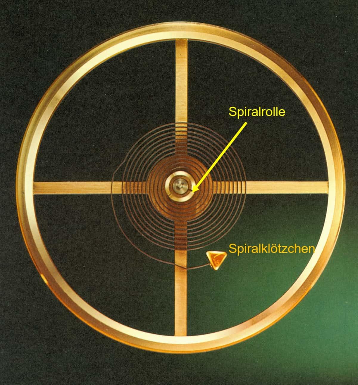 Aufbau einer Glucydur-Ringunruh mit Flachspirale