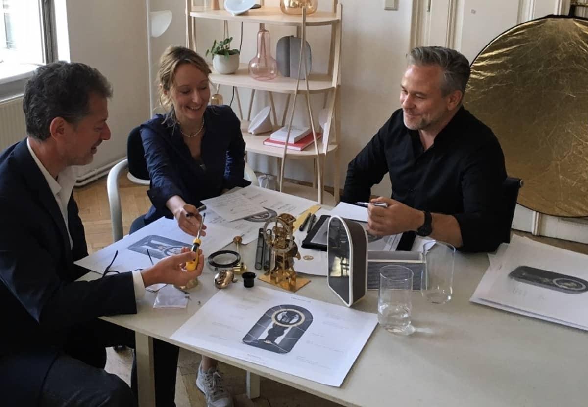 Robert Punkenhofer, Therese Wibmer & Rainer Mutsch bei der Arbeit an der Carl Suchy Table Waltz