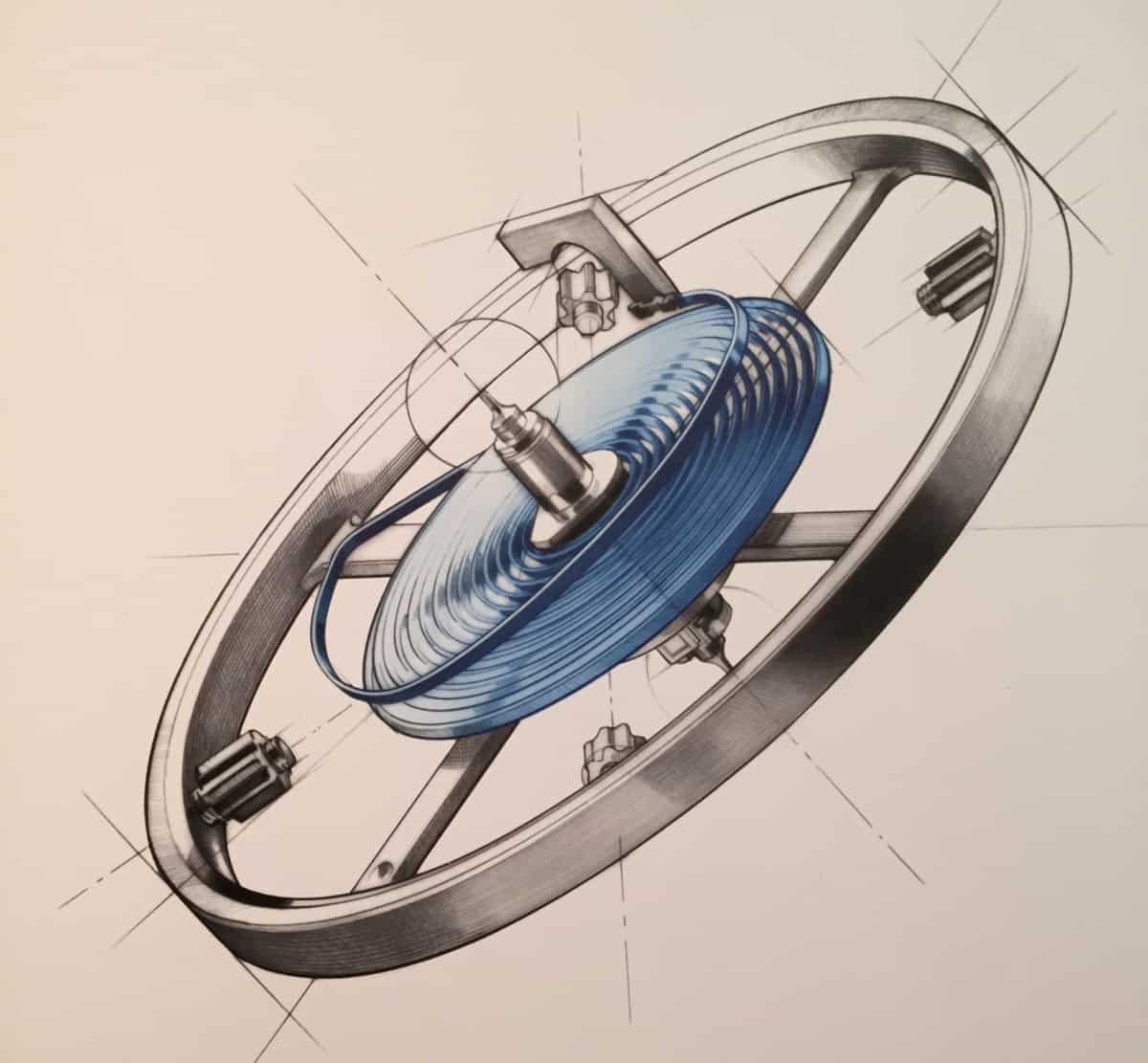 Rolex Unruh Microstella Regulierschrauben Breguetspirale