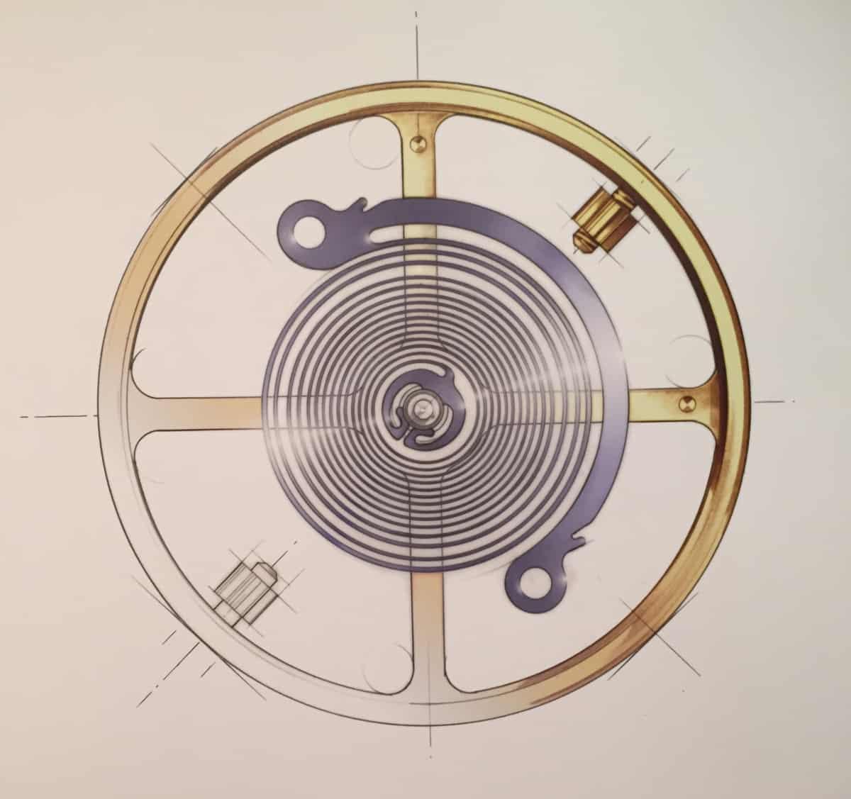Bei Silizium Unruhspiralen Rolex Syloxi ohne sich ein Rücker-System mit variabler Trägheit