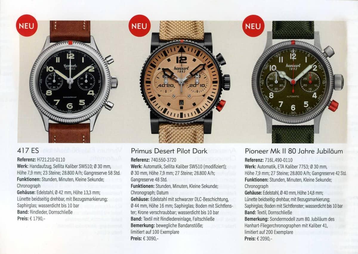 Armbanduhren Katalog 2021 2022 Hanhart