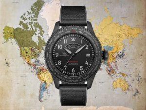 IWC Pilot's Watch Timezoner Top Gun Ceratanium Opener Weltkarte