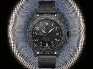 IWC Pilot's Watch Timezoner Top Gun Ceratanium mit Eingangskonstruktion Messe Basel